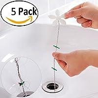 Ungfu Mall 5 Pcs Chaîne pour évier de cuisine toilettes paquet évacuation perruque chaîne baignoire d'enlever les chaînes nettoyer les outils