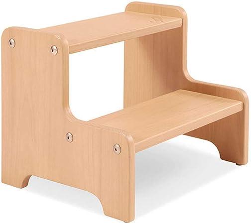 BOC Taburete, taburete de madera maciza para niños Taburete para lavabo Taburete de escalera Taburete antideslizante para aumento Taburete de escalera Taburete de escalera: Amazon.es: Bricolaje y herramientas