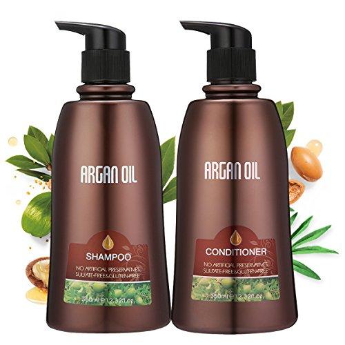Skymore Moroccan Argan Oil Shampoo and Conditioner Set, Natu