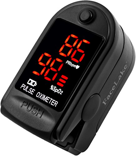Contec CMS 50DL Finger Pulse Oximeter, Black