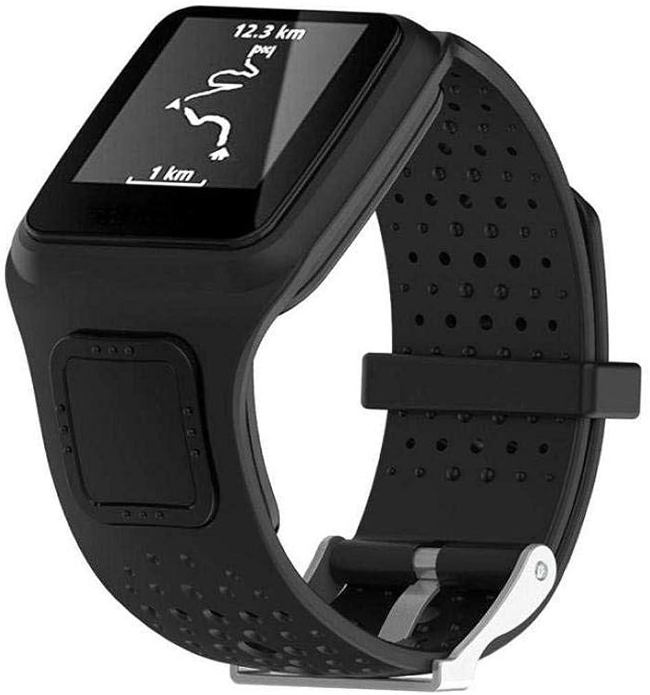 Scpink Correa de Reloj Tomtom Runner Cardio GPS HR, Correa de Banda Suave de Silicagel de Repuesto para Tomtom Runner, Reloj GPS HR