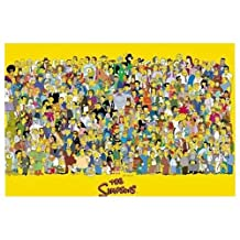 The Simpsons Full Cast Characters HUGE LAMINATED POSTER