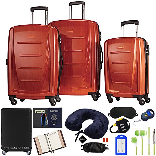 (Samsonite Winfield 2 Fashion 3-Piece Spinner Set with Luggage Accessory Kit)