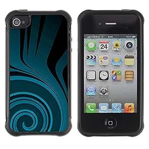 "Pulsar iFace Series Tpu silicona Carcasa Funda Case para Apple iPhone 4 / iPhone 4S , Patrón trullo Flow Negro Oscuro"""