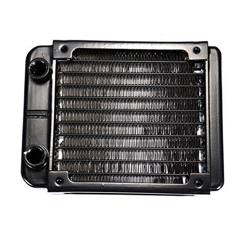 G1/4 90mm Heat Radiator - TOOGOO(R)G1/4 90mm Aluminium Heat Radiator For PC CPU Water Cooling Heatsink Black by TOOGOO(R)