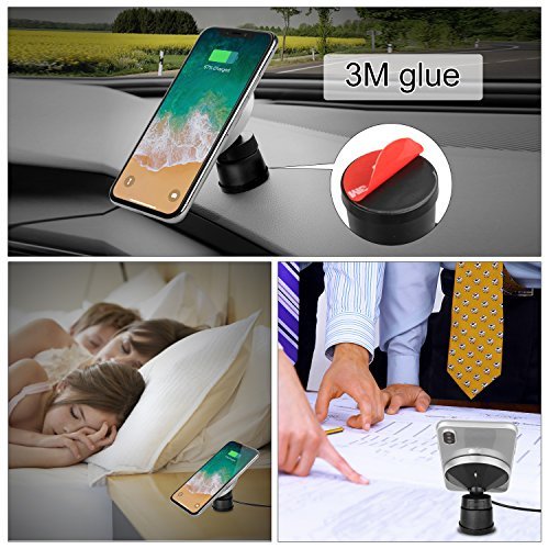 Qinoren Magnetic Wireless Car Charger Air Vent Phone Holder,Wireless Charging for Samsung S9/S9+/S8/S8+/S7/S7 Edge Note 8、Apple iPhone X/8/8 Plus and All QI-Enabled Devices(No Car Charger) by Qinoren (Image #6)