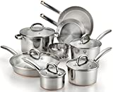 T-fal C836SD Ultimate Stainless Steel Copper-Bottom Heavy Gauge Multi-Layer Base Cookware Set, 13-Piece, Silver by T-Fal