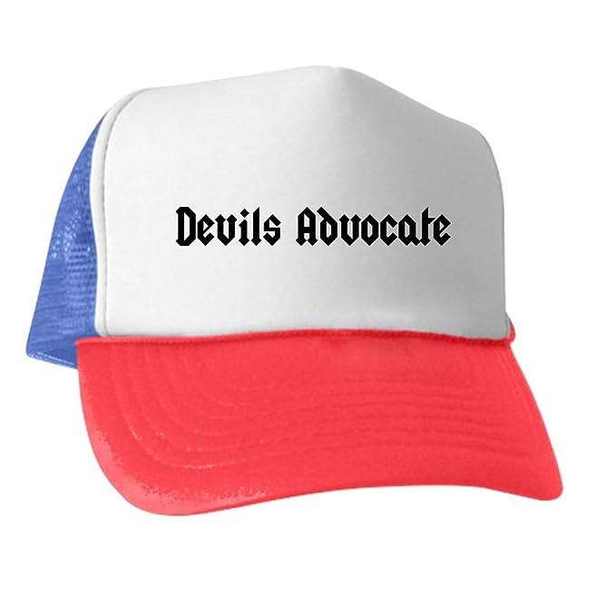 afa25c4ee9e00 Amazon.com  CafePress - Devil s Advocate - Trucker Hat