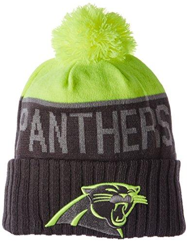 NFL Carolina Panthers 2015 Upright Sport Knit, Upright Yellow/Graphite, One Size