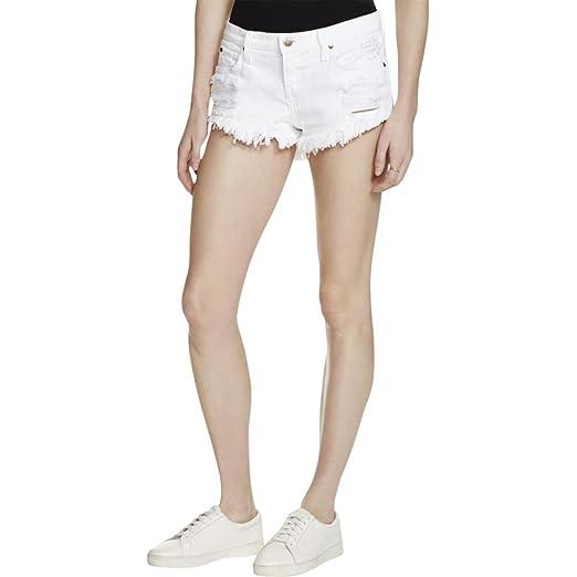75fe943db2 Pistola Womens Gigi Destroyed Low-Rise Denim Shorts White 29 at ...