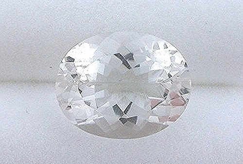 10x8 10mm X 8mm Oval Faceted White Topaz Gem Stone Gemstone Natural -