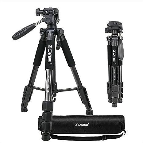 ZOMEI Q111 - Trípode ligero para cámara de fotos de 55 pulgadas ...