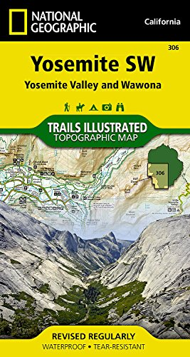 Yosemite SW: Yosemite Valley and Wawona (National Geographic Trails Illustrated - Outlets Map Mercedes