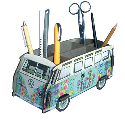 Werkhaus Stiftebox Stifteköcher Hippi Bus grün VW Bus design by Eva Maria Nitsche