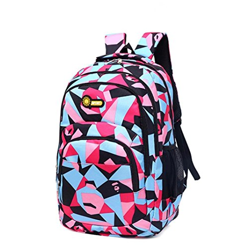 YJYdada Backpack, Backpack Teenage Girls Boys School Backpack Camouflage Printing Students Bags (Pink) (Hobo Handbag Alligator Embossed)