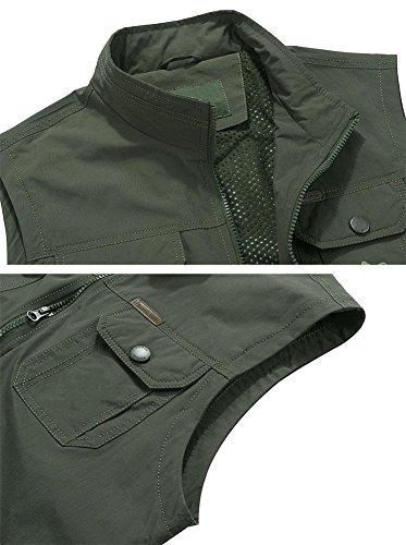 Green All'aperto Pesca Gilet All'aperto Armygreen Huwai Army 5xl Per Da x011g