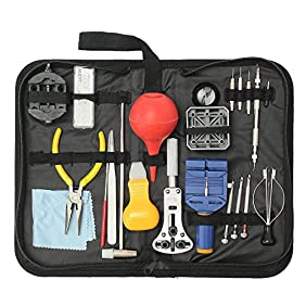BABAN 22 PCS Watch Repair Tool Kit, Opener Spring Bar Tool Set Watch Link Removal Tool Hand Remover Case
