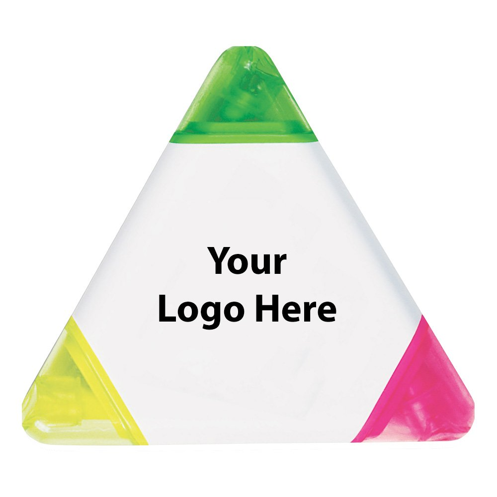 Tri Highlighter - 400 Quantity - $1.00 Each - PROMOTIONAL PRODUCT / BULK / BRANDED with YOUR LOGO / CUSTOMIZED