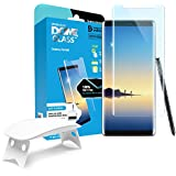 Whitestone Dome Glass, [For Galaxy Note 8] Tempered Screen Protector, Superior Touch Sensitivity, Cracked Screen Repair, Edge to Edge Full Coverage, Anti-Fingerprint,extra adhesive