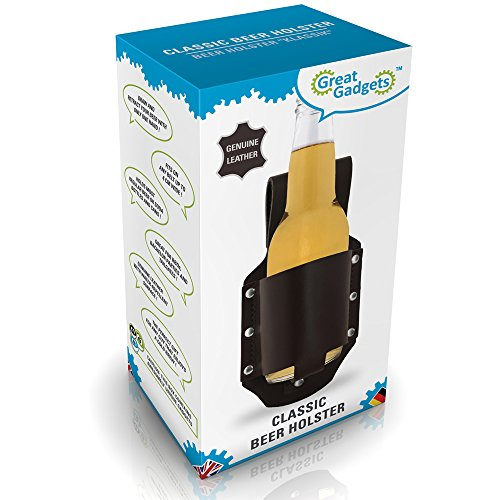 GreatGadgets-1880-Genuine-Leather-Classic-Beer-Holster-Espresso-Brown