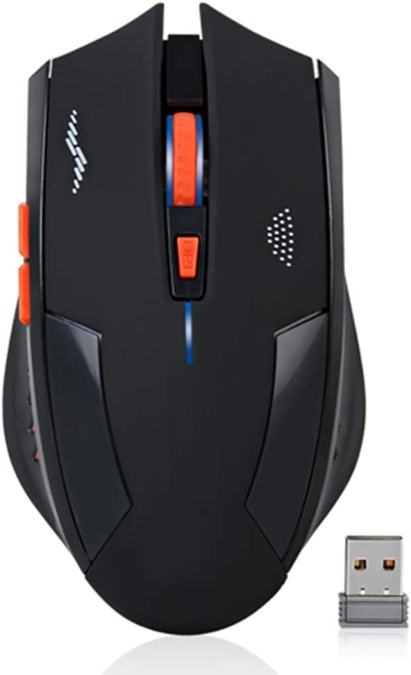 BINGFEI Rechargeable Wireless Mouse 2400DPI 2.4G USB Gaming Mouse Silent Built-in Lithium Battery for PC Laptop Computer Gamer