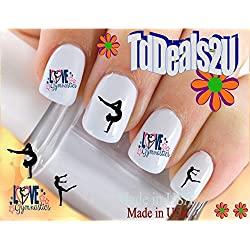 Sports - Gymnastics #2 Love Gymnastics Nail Decals - WaterSlide Nail Art Decals - Highest Quality! Made in USA