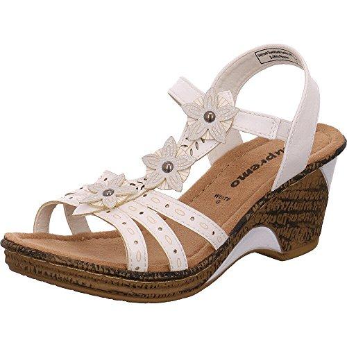Supremo 4822007, Sandalias con Plataforma para Mujer Weiß (White)