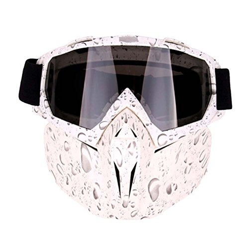Freehawk Motorcycle Goggle Mask - Tactical Glasses with Detachable Mask for Airsoft/CS/Paintball/Skiing/Riding/Snowmobile/Cycling/Halloween/Costume Ball (Pearl Pattern) for $<!--$20.99-->