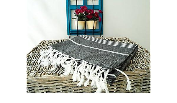 (Juego de 3) XL 100% algodón turco de baño playa manta toalla de Hammam Peshtemal Fouta manta Set: Amazon.es: Hogar