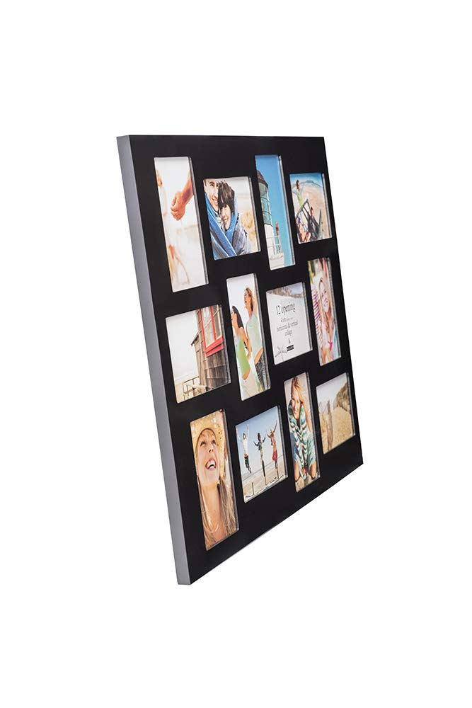 Malden 4x6 12-Opening Collage Picture Frame - Displays Twelve 4x6 Pictures - Black by Malden (Image #2)
