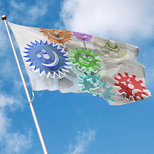 Garden Flag Gear Database Outdoor Yard Home Flag Wall Lawn Banner Polyester Flag Decoration 3' X 5' -