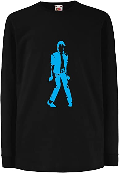 lepni.me Kids T-Shirt King of Pop Band Merch 80s 90s Party Musically Shirt I Love M J 12-13 Years Black Fluorescent
