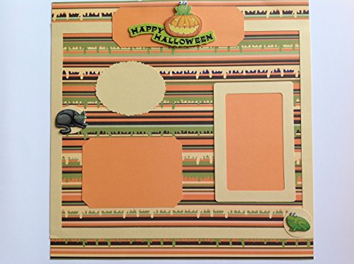Scrapbook Pre-made Halloween Frog Theme Page