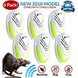 Kantora PEST Control ULTRASONIC Rat Repellent 6-Pack (2018 Best Model) Repeller Plug in Insects, Mice, Rats, Spiders, Fleas, Roaches, Bed Bugs, Mosquitoes, Baby, Pet Safe & Non Toxic EBOOK