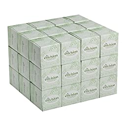 Georgia-Pacific Envision 47510 White Facial Tissue, Cube Box, 8\