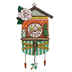 Allen Designs Forest Friends Birdhouse Pendulum Clock