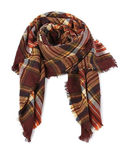 Women's Stylish Warm Blanket Scarf Gorgeous Wrap Shawl Dark Brown