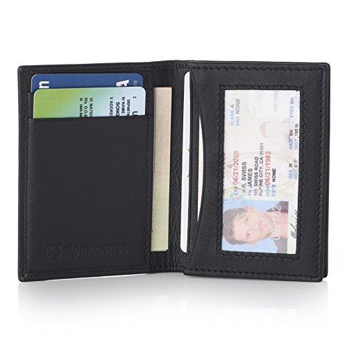 Alpine Swiss RFID Business Card Case ID Wallet