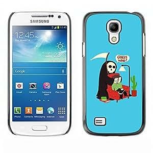 LASTONE PHONE CASE / Slim Protector Hard Shell Cover Case for Samsung Galaxy S4 Mini i9190 MINI VERSION! / Guess Who Quote Death Parody Humor Art by ruishername