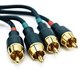 Caliber OFC RCA Audio Interconnect Cable 2-Male to 2-Male High Performance RCA Cable for Car -10ft/3m