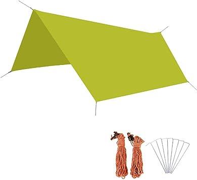 Tarp f/ür H/ängematte Outdoor Camping Azarxis wasserdicht Zeltplane Hammock Plane leicht und kompakt