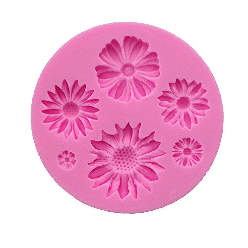 aliveGOT Flower Cake Fondant Molds 3D Mini Flower Silicone Molds Daisy Flower Molds and Small Flower Molds Accessories Molds -