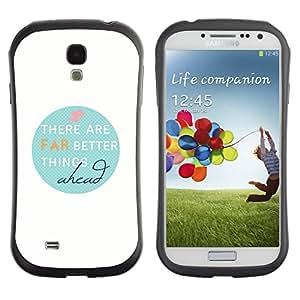 Suave TPU GEL Carcasa Funda Silicona Blando Estuche Caso de protección (para) Samsung Galaxy S4 I9500 / CECELL Phone case / / Hope Clean White Teal Quote /