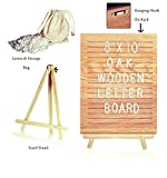 Evergood Changeable Non Black Felt Letter Board Solid Oak Wooden Letter Board Mini Marquee Sign with FREE Bag and Easel 8''X10'' 340 Letters Numbers Emojis International Characters and Wall Mount