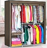 HHAiNi Clothes Closet Organizer Storage Rack Portable Wardrobe Clothing Hanger Armoires