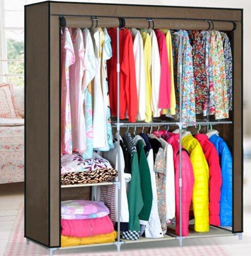 HHAiNi Clothes Closet Organizer Storage Rack Portable Wardrobe Clothing Hanger Armoires by HHAiNi