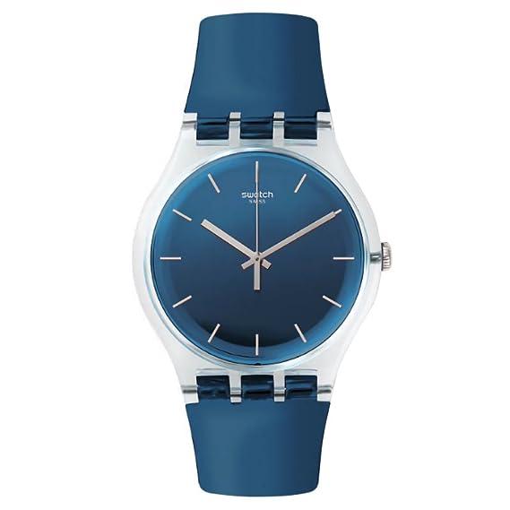Swatch hombre magies D hiver suok126 azul goma Swiss reloj de cuarzo