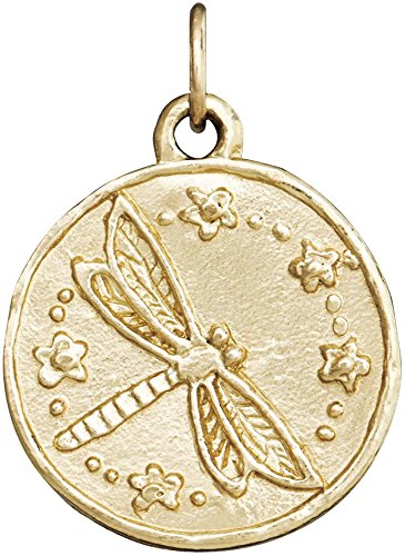 Helen Ficalora Dragonfly Coin Charm Yellow Gold