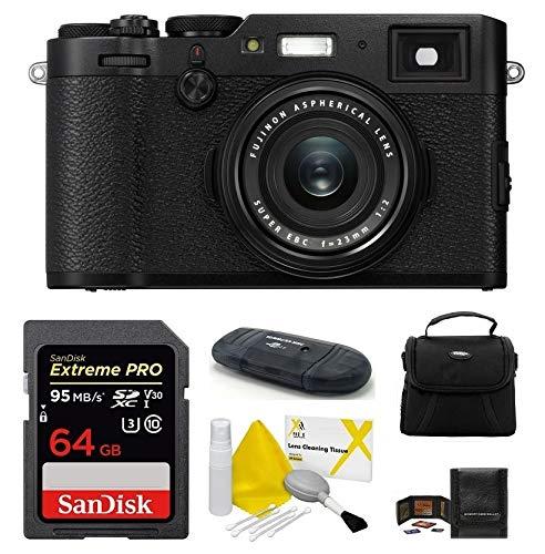 Blk Cables General (Fujifilm X100F Digital Camera (Black) Bundle Includes: 64GB Extreme PRO SDXC Memory Card + Camera Bag + More)