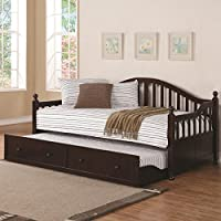 Coaster 300090 Traditional Style Daybed With Trundle Cappuccino Finish